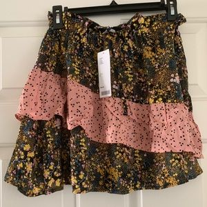 NEW W TAGS Urban Outfitters Pink Floral Skirt, S